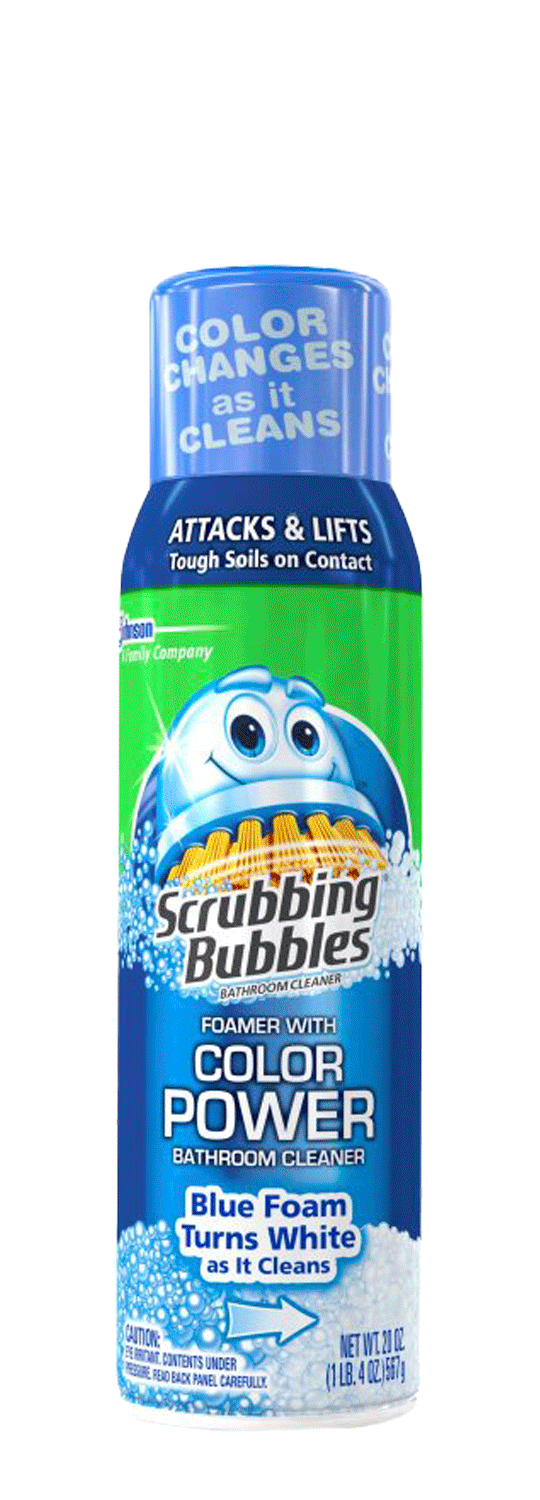 Bathroom Cleaner with Color Power | Scrubbing Bubbles® Products